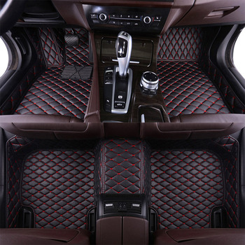 Leather Car Floor Mats for Audi Q7 2006 2007-2013 2014 2015 2016 2017 2018 2019 Custom Auto Foot Pads Automobile Carpet Covers