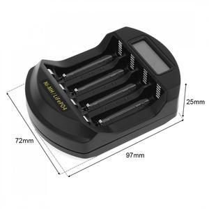 Image 3 - Soshine ЖК дисплей LifePO4 Ni MH 4 слота интеллектуальное зарядное устройство для батарей 14500 /14400 / AA / AAA