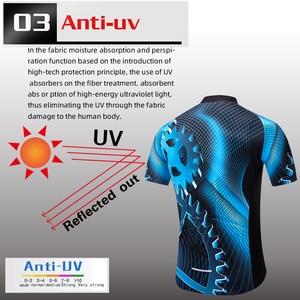 Image 5 - Новая летняя одежда teleyi для велоспорта, Джерси с коротким рукавом, комплект одежды для велоспорта, быстросохнущая одежда, велосипедная одежда для горного велосипеда
