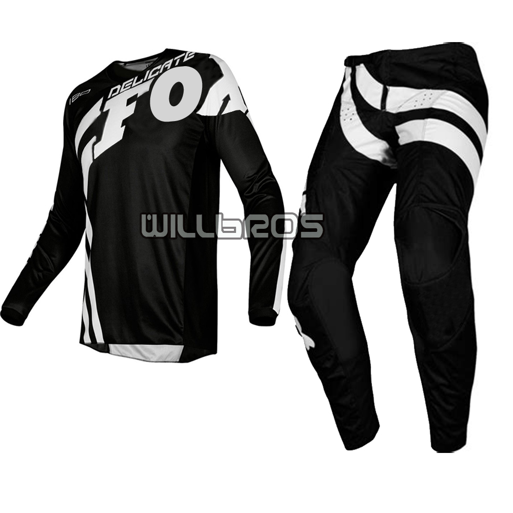 Delicate Fox Motorcycle MX 180 Locomotive Rider Jersey Pant Scooter Motocross Gear Set