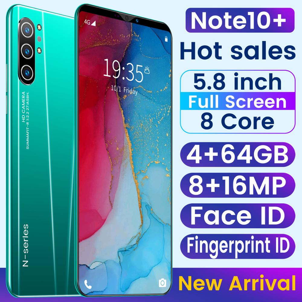 SAILF Note10 Plus Android 9.0 Octa Core Mobile Phone 5.8' FHD+ 16MP Triple Camera 4G RAM 64GB ROM Smartphone gsm wcdma unlocked