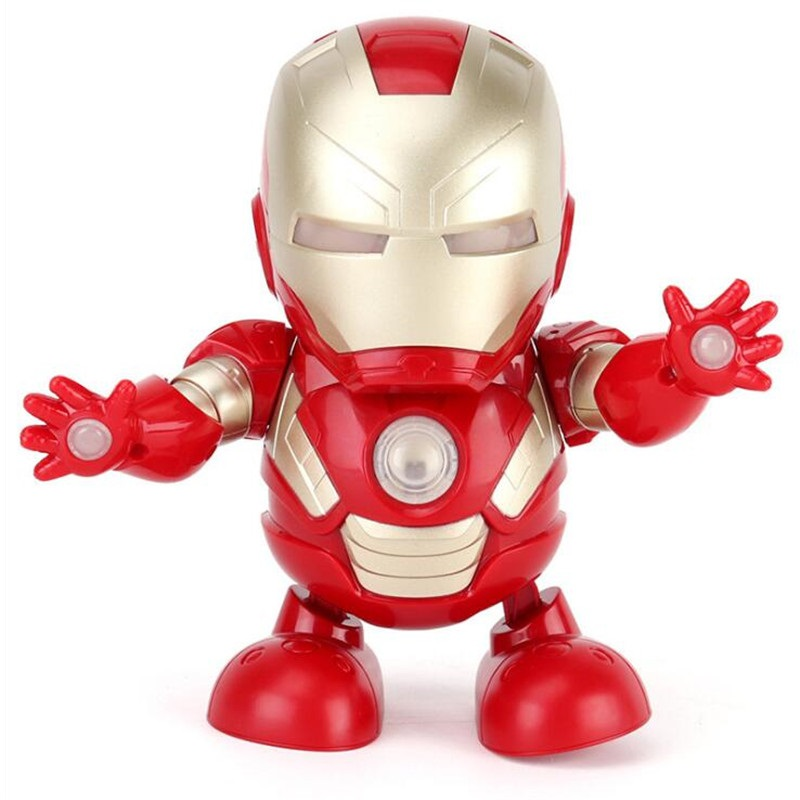 Mini RC Robotic Toys With Light Sound Music Avengers For Children And Kids