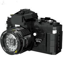 Técnica moc câmera digital blocos de construção modelo fy2a slr câmera tijolos criativos 627 pçs crianças brinquedos presentes natal inverno