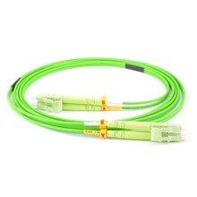 Darmowa wysyłka 10 sztuk/partia LC LC DX OM5 wapno zielony kabel Patch długość lub złącze można dostosować