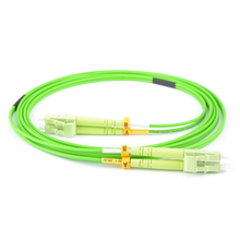 Ücretsiz kargo 10 adet/grup LC LC DX OM5 kireç yeşil Fiber yama kablosu uzunluk veya konnektör özelleştirilebilir