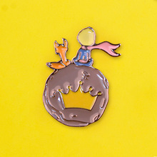 Little Prince Badges for Clothes Badges on Backpack Fox Brooches Badge Enamel Pins for Backpacks Clothes Lapel Pin Jewelry Gift the little prince brooches for women don t be a boring adult le petit prince b 612 planet fox rose fairy tale hard enamel pin