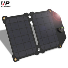 ALLPOWERS 5V14W Solar Charger Dual USB Panel Foldable Power Bank for Smartphones