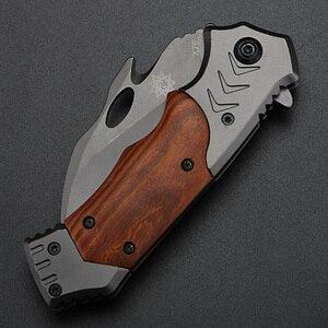Image 4 - XUANFENG חיצוני סכין מתקפל סכין קמפינג קשיות גבוהה סכין טקטי נייד סכין wild הישרדות טופר סכין