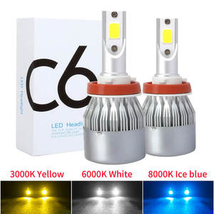 YIRAY LED H4 H7 H11 COB Car LED