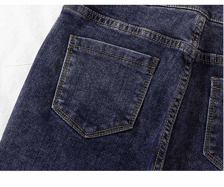 2020 yeni sıska jean kadın yüksek bel elastik bahar yaz ayak bileği uzunluk gri rahat kot kalem pantolon kadın