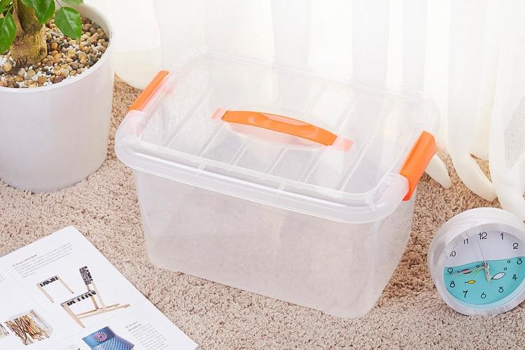 Car Mounted Hand Storage Box Large High Transparent Plastic Organizing Box Toy Storage Organizing Supplies