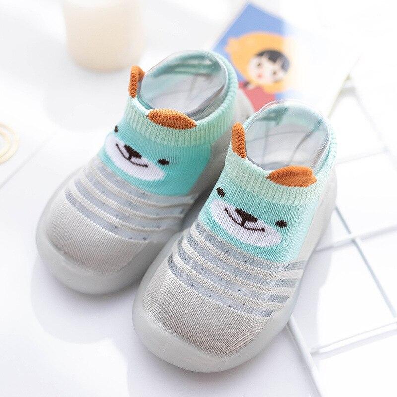 Children Anti-slip Shoes Newborn Baby Girl Cotton Non-slip Floor Socks Baby Boy Rubber Sole Cartoon Indoor Socks Infant Shoes 3