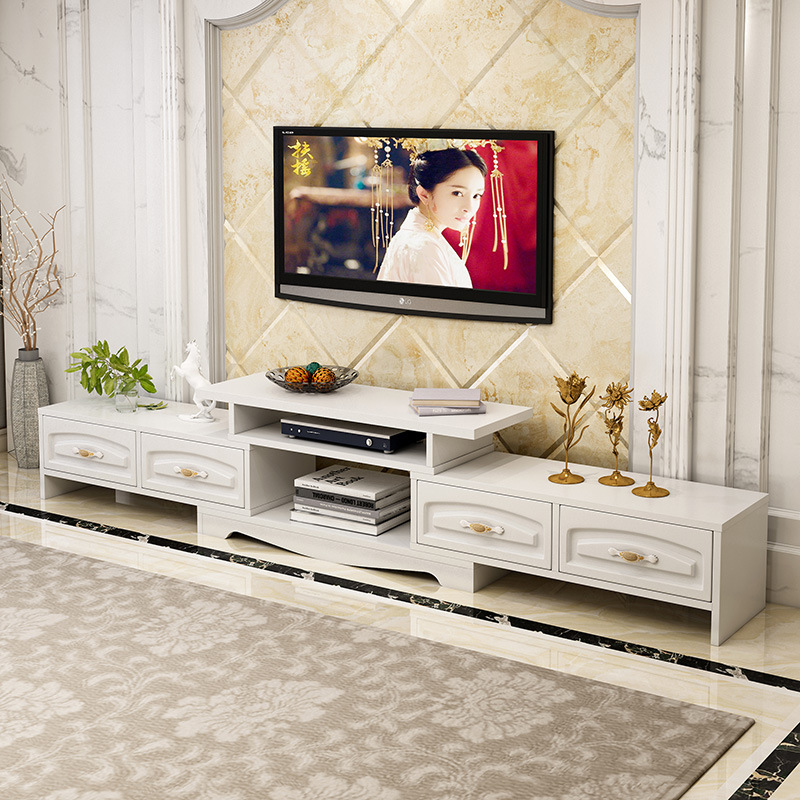 Television Cabinet Teapoy Table Combination Modern Minimalist Small Apartment European Style Living Room TV Cabinet Floor Cabine