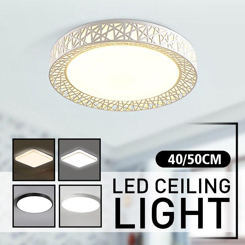LED Ceiling Lights 40/50CM Modern Lamp Square Flush Mount Fixture Lighting for Living Room Bedroom Kitchen Study Balcony NEW