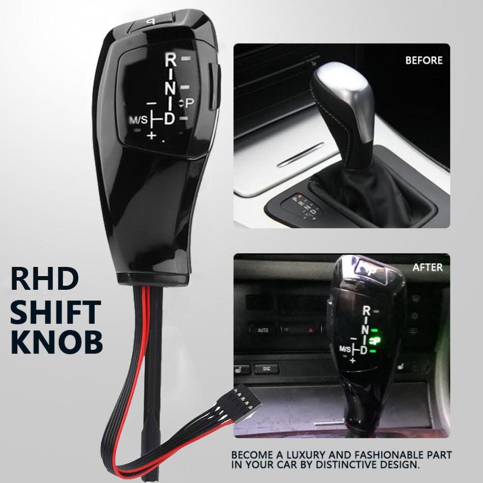 Pour BMW E46 RHD voiture LED pommeau de levier de vitesse manette de vitesse levier de vitesse automatique