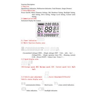 Image 4 - دراجة كهربائية تحكم 24 فولت/36 فولت/48 فولت 250 واط/350 واط فرش تحكم مع شاشة الكريستال السائل لوحة ل دراجة كهربائية e الدراجة سكوتر