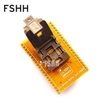 цена на WSON40 ic socket DFN40 MLF40 TEST SOCKET QFN40 to DIP40 Programmer Adapter Pitch=0.5mm Size=6x6mm