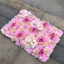 Silk Rose Flower Home Decor Champagne Artificial Flower for Wedding Decoration Flower Wall Romantic Wedding Backdrop Decor
