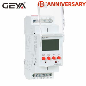 Free Shipping GEYA GRV8-S 3 Phase Digital Display Voltage Relay 8A 2SPDT Monitoring Phase Relay Auto Reset LCD Relay(China)