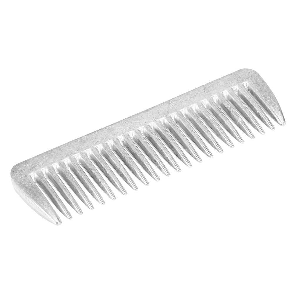 Outil de peigne de toilettage de cheval en métal professionnel peigne de cheval en alliage d'aluminium produits de soin de traction de queue de crinière 6.5IN/3.9IN/3.5IN/3.2IN
