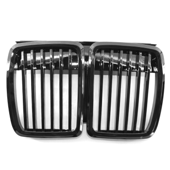 for BMW E30 82-94 3 Series Grille High Gloss Black Cool Bussiness Style Car Front Grille Replacement Car Grills image