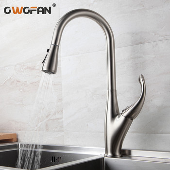 Kitchen Faucets Silver Single Handle Pull Out Kitchen Tap Single Hole Handle Swivel 360 Degree Water Mixer Tap Mixer Tap N22-205 kitchen faucets silver single handle pull out kitchen sink tap single hole handle swivel 360 degree rotation water mixer tap