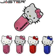 JASTER חדש סגנון 4 צבעים הלו קיטי USB דיסק און קי חתול עט כונן מיוחד מתנת אופנה קריקטורה בעלי החיים Pendrive 64gb/32GB/16GB