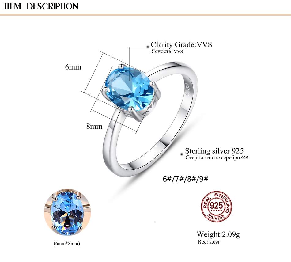 Hc34c4f3f6789498b8d30d141b0a0d963t CZCITY Natural Solitaire Sky Blue Oval Topaz Stone Sterling Silver Ring For Women Fashion S925 Fine Jewelry Finger Band Rings