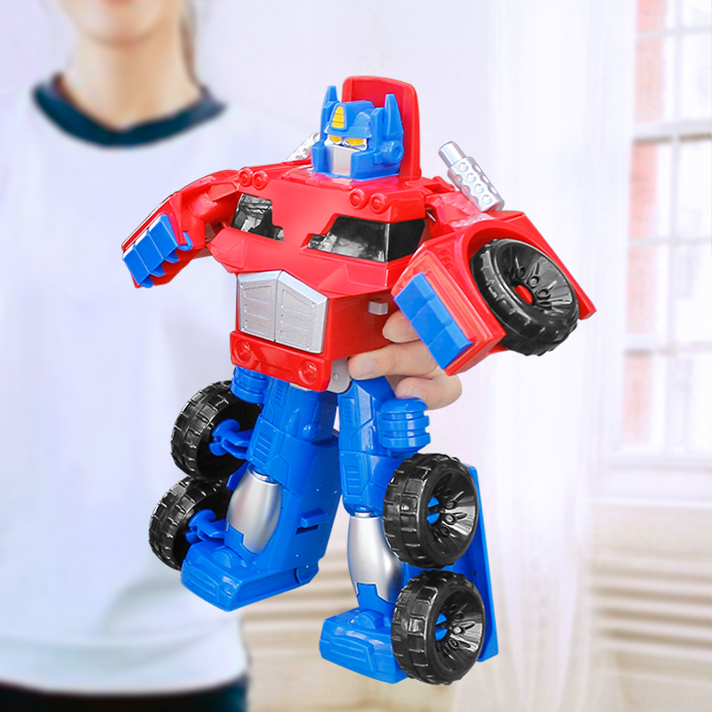 19cm Alloy Plastic Car Automobile Optimus Prime Heat Wave Fire Truck Big Leader Size Transformers Kids Toys Chlid Boy Gift