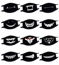 Big Size Expression Face Mask Cotton Black Mask for Face Mouth muffle Dustproof Respirator Cute Anti Dust Covers
