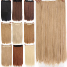 AISI BEAUTY 5 Clips Synthetic Hair Long Straight Blonde Clip
