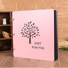 Фотоальбом «сделай сам» 16 дюймов Деревянная обложка фотоальбом