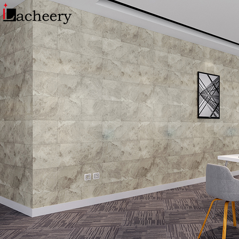 Waterproof Floor Stickers Self Adhesive Marble Wallpapers Kitchen Wall Sticker House Renovation DIY Wall Ground Paster Decor 2