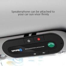 Mini clipe de viseira de sol bluetooth speakerphone áudio mp3 música receptor carro kit sem fio handsfree falante adaptador de telefone para telefone
