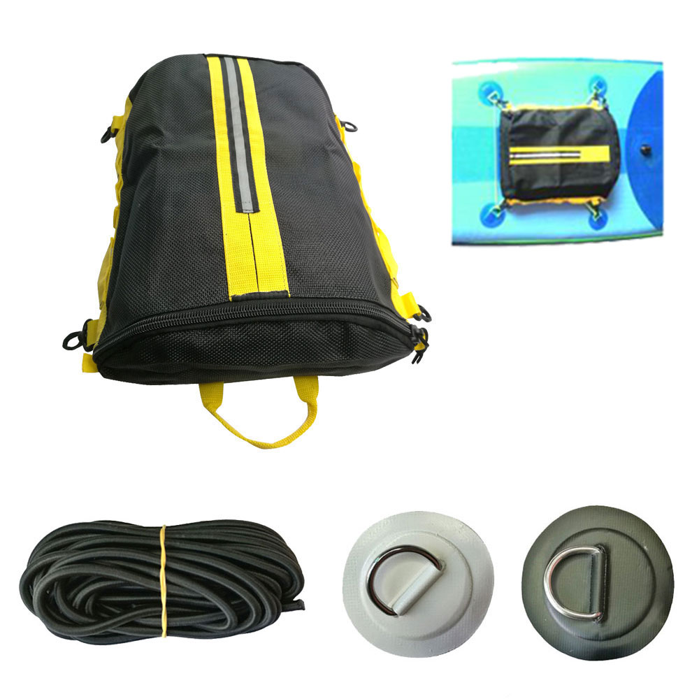 Dinghy Inflatable Boat SUP D Ring Pad Mesh Deck Bag For Boat Canoe Rafting Stand Up Paddle Board Deck Pocket Storage Bag