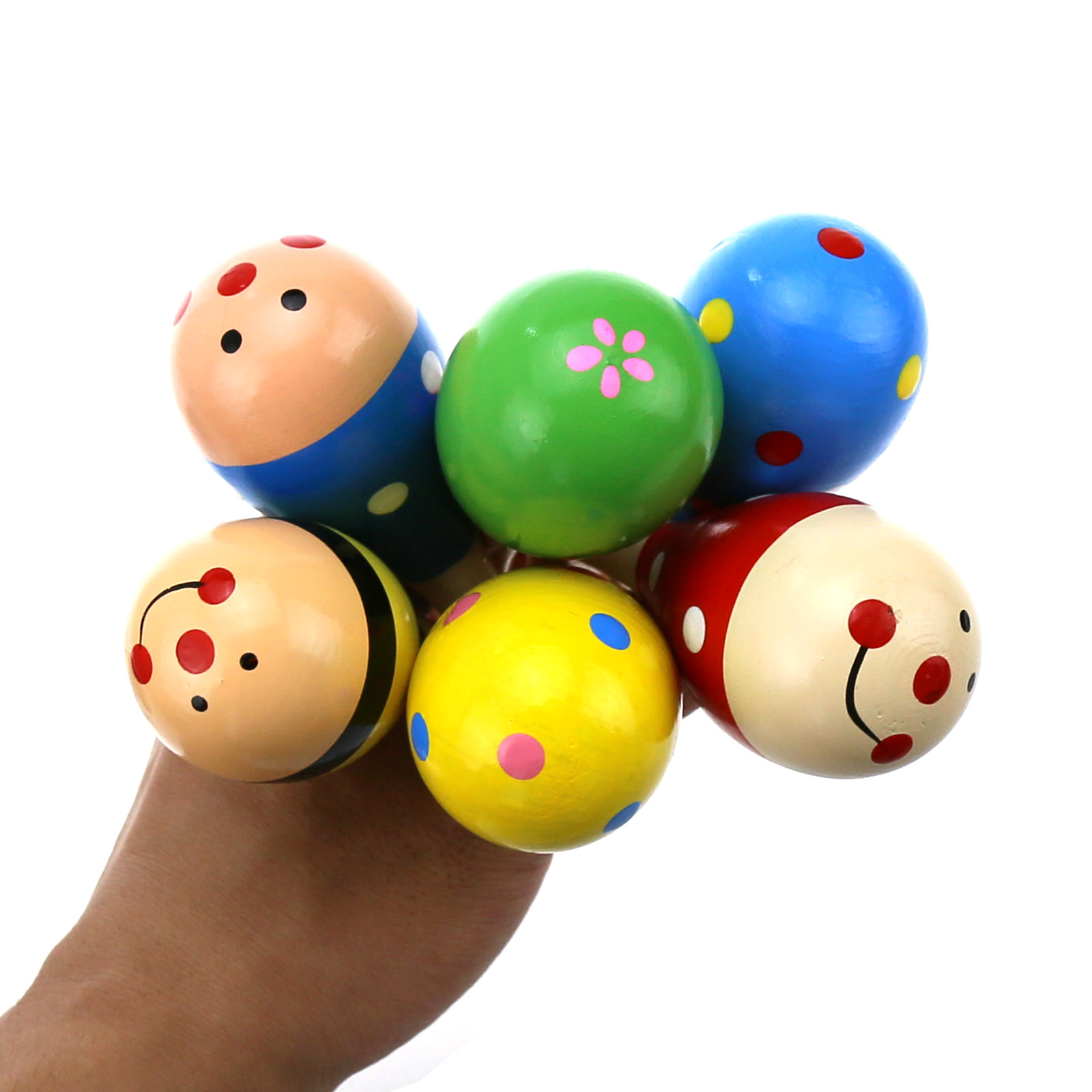 Sell Well 1cps Infant Fancy Toy Small Wooden Sand Hammer Grip  Kids Exercises Musical Instruments Hand Ball Gifts Random Color