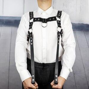 Image 3 - UYEE Erotische Leder Harness Punk Gürtel Für Männer Gothic Körper Bondage Custome Käfig Sexy Brust Strumpfband Gürtel Dessous Clubwear LM 003