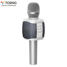 TOSING 027-Micrófono de Karaoke inalámbrico, reproductor de KTV portátil para teléfono, 2 en 1 Altavoz Bluetooth con micrófono, micrófono portátil para cantar y grabar