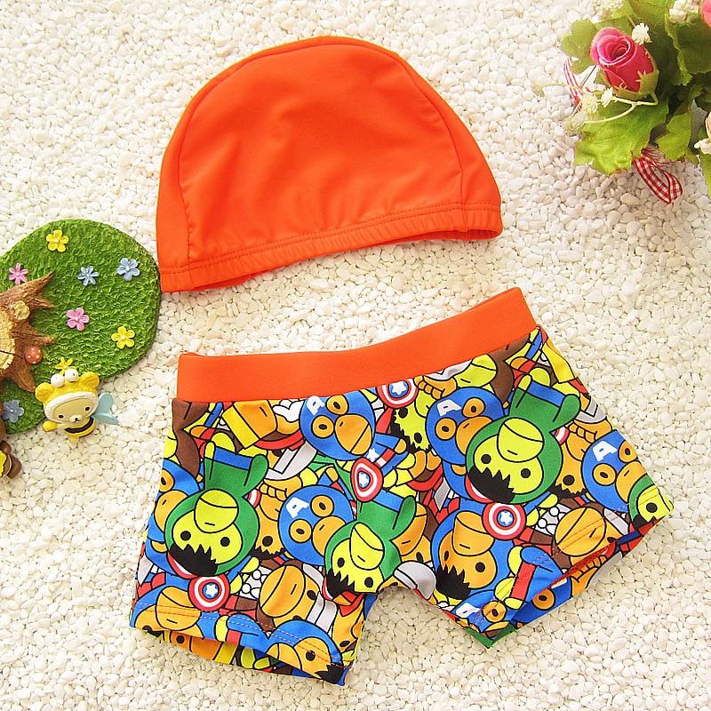 Swimsuit Beach Swimsuit Infant Baby Child Children's Swimwear Men's Boxer Medium And Small Hot Spring Swimming Trunks