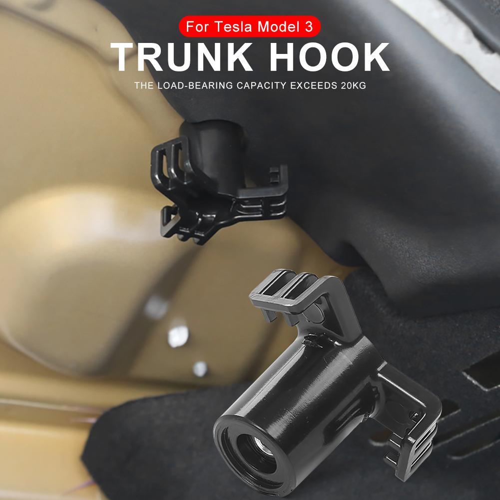 waysad Trunk Hook Practical Durable Car Bolt Cover Mounting Holder Accessories Cargo Trunk Bag Hook Hanger Holder For Tesla Model 3