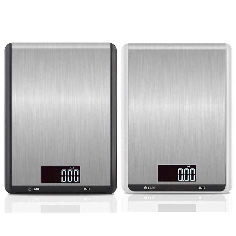 Принимает массу весом до 5 кг/10 кг кухонные весы, модное кольцо из нержавеющей стали, ЖК-дисплей цифровые весы 1 г Электронные весы еда выпечка весовая шкала-2