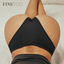 FINETOO Women Cotton Brazilian Panties M-XL Comfortable Thongs Underwear Women Bikini Underpants Sexy Low-rise Girl T-back Panty