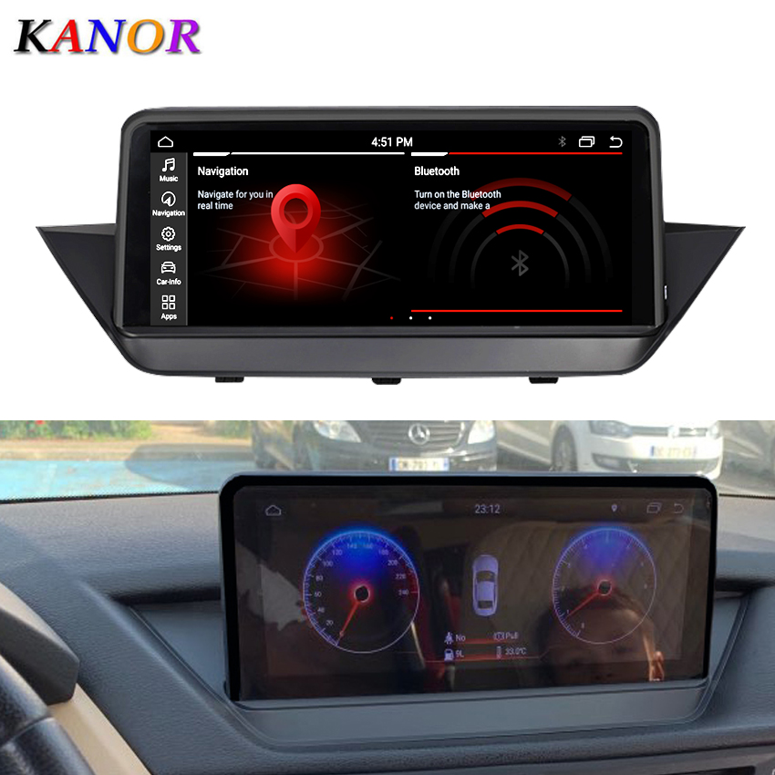 KANOR 10.25inch 4G+64G Android 10.0 car multimedia player gps navigation for <font><b>BMW</b></font> <font><b>X1</b></font> E84 2018 <font><b>2019</b></font> EVO System with Idrive image