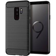 سيليكون قضية الهاتف لسامسونج غالاكسي S9 زائد لينة غطاء من ألياف الكربون الوفير GalaxyS9 SM G965F G960F S9plus S 9 9 Plus SM G960F