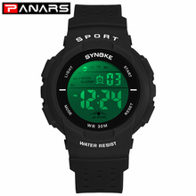 PANARS Kids Sports Digital Watches Colorful LED Hollow Out Strap Multi-function
