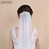 Noble Wedding Veil Rhinestone Veils Long Bridal Wedding Accessories Crystal Flowers Cathedral Bride's Veil For Wedding Party
