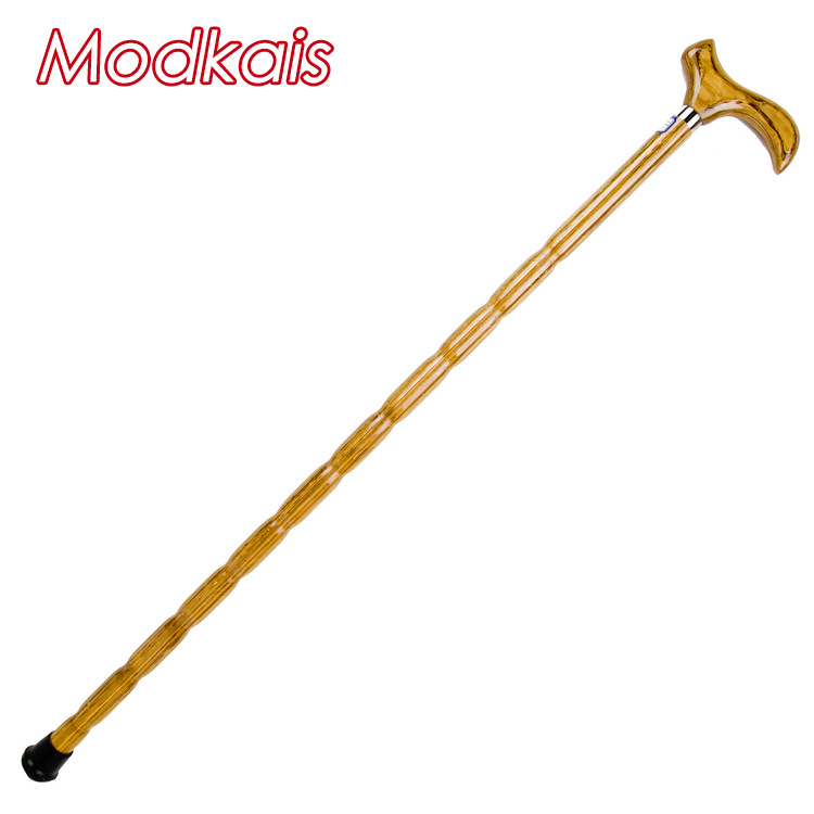 Manufacturers Direct Selling Modkais Solid Wood Crutches Elderly Wood Walking Stick Can Carve Writing Walking Aid