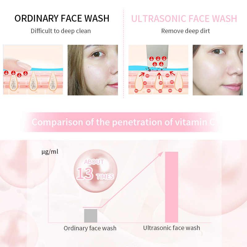 ANLAN ultradźwiękowy oczyszczacz skóry twarzy Scrubber wibrator Ion narzędzie do oczyszczania porów twarzy EMS masaż wibracyjny peeling kawacyjny