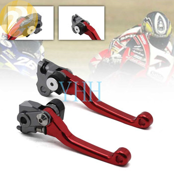 CNC Aluminum Motorcycle Brake Clutch Red Levers Pivots For Honda CRF250R CRF 250R 2007-2020 2008 2010 2017 2018 2019 Pit Bike image