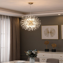 Nordic Dandelion Crystal Chandelier Lighting Dining Living Room Bar Decoration Fixture Modern Art Crystal Chandeliers Lamps nordic post modern minimalist transparent glass chandeliers dining room living room bar creative art chandelier free shipping